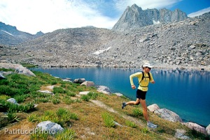 Trail running in the Sierra Nevada